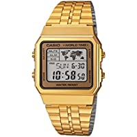 CASIO Men's Digital World TIME A500WGA-9DF Stainless Steel Watch