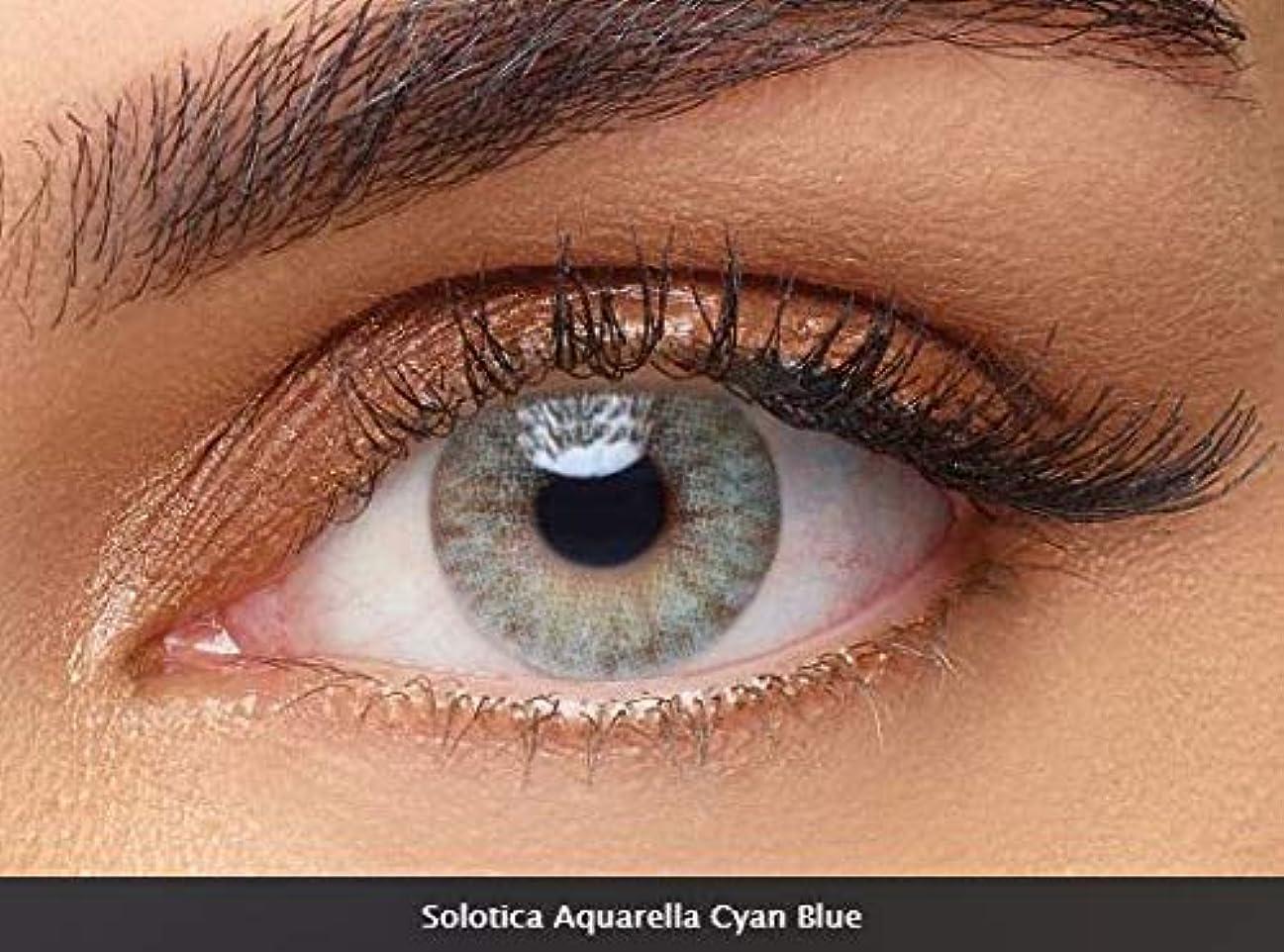 殺人削除する優雅なsolotica ソロティカ カラコン Cyan Blue - pack of 10 lenses 1day ワンデー (-2.50)