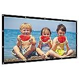 プロジェクタースクリーン 150インチサイズ 16:9 携帯式 大きなサイズ 持ち運びやすい 映画スクリーン 屋外屋内用 投影用 会議 教室 洗濯可能 折り畳み式 (150インチ)