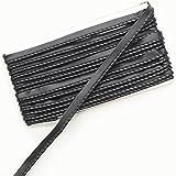 合皮 パイピング 約10mm幅 5Y(約4.5m) パイピングコード 合皮テープ (黒)
