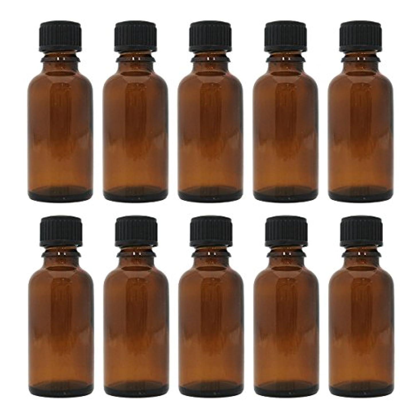 凝視銅ライバル茶色遮光瓶 30ml (ドロッパー付) 10本セット