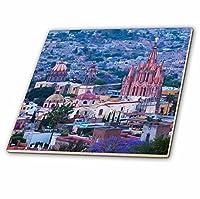 3drose Danita Delimont–都市–メキシコ、San Miguel de Allende。The Parish教会dominates the City。–タイル 8-Inch-Glass ct_258476_7