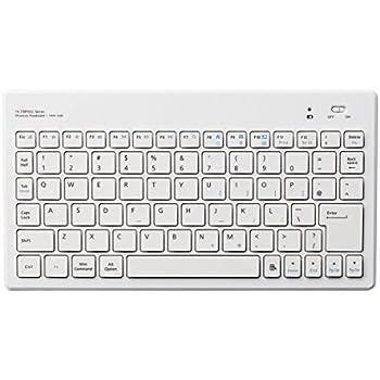 エレコム ワイヤレスキーボード Bluetooth ウルトラスリム パンタグラフ Windows/iOS/Android 対応 ホワイト TK-FBP052WH