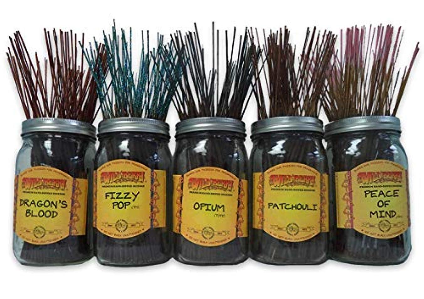 Wild Berry Incense Sticks Best Sellerセット# 1 : 10 Sticks各5の香り、合計50 Sticks 。