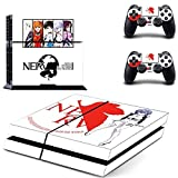 You loving hot anime Neon Genesis Evangelion Vinly Skin Sticker for PS4 System Playstation 4 Console with 2 Controller EVA Skins by You Loving [並行輸入品]