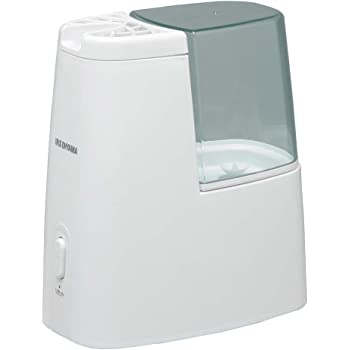 アイリスオーヤマ 加熱式加湿器 タンク容量1ℓ グリーン アロマトレー付き SHM-120D-G