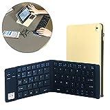 【Newiy Start】ワイヤレスキーボード bluetooth 折りたたみ 薄型 スマホ タブレット USB有線対応 デュアルモード キーボード NS-KBD-GOLD