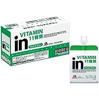 inゼリー マルチビタミン グレープフルーツ味 (180g×6個) 栄養補助ゼリー 10秒チャージ 11種類のビタミン配合