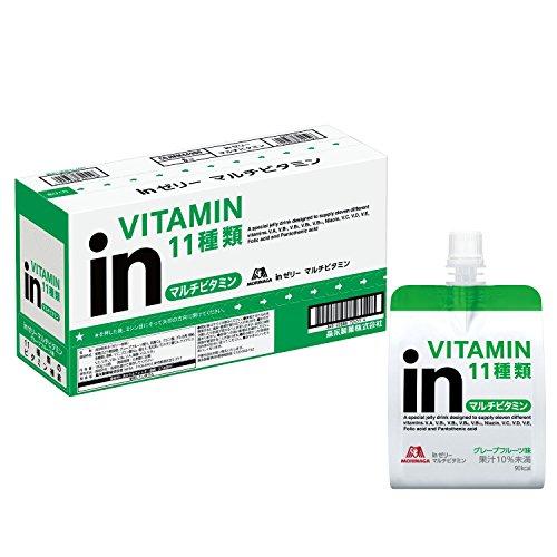ウイダー inゼリー マルチビタミン グレープフルーツ味 (180g×6個) 栄養補助ゼリー 10秒チャージ 11種類のビタミン配合