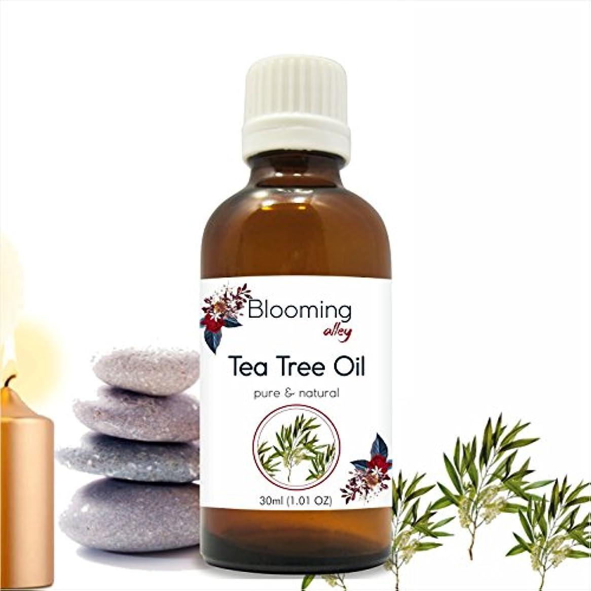 最初にエスニックハブブTea Tree Oil (Melaleuca Alternifolia) Essential Oil 30 ml or 1.0 Fl Oz by Blooming Alley