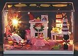 【ELLEJE】本格 ミニチュア ドールハウス 手作り キット セット おしゃれ オシャレ かわいい 可愛い アンティーク レトロ 調 インテリア (クリスマス①)