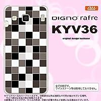 KYV36 スマホケース DIGNO rafre KYV36 カバー ディグノ ラフレ スクエア グレー nk-kyv36-1016