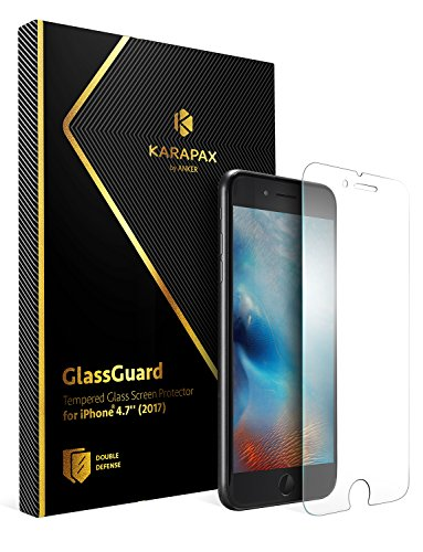 Anker KARAPAX GlassGuard iPhone 8 / 7 用 強化ガラス液晶保護フィルム【3D Touch対応 / 硬度9H / 飛散防止】 A7478002