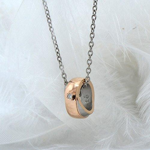 [フェフェ]fe-fe phiten フェフェ チタン ネックレス ファイテン SIMPLE CROSS ピンクゴールド Ladies' FP-30 (お磨きクロス付ギフトセット)