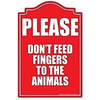 Dont Feed指に動物ノベルティSign  インドア/アウトドア 面白いホーム飾りのガレージ、リビングルーム、ベッドルーム、オフィス  SignMission壁ギフトサイン壁プラークデコレーション
