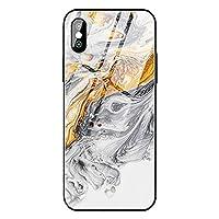 IPhone XRケース、女の子用レディース9H強化ガラスケース、流砂大理石デザイン耐衝撃性アンチスクラッチケース(アップルiPhone Xs MAX、iPhone X/XS用),C,iPhoneX/XS