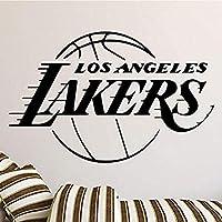 家の装飾リビングルームの装飾少年寝室の壁のステッカーバスケットボールチームロサンゼルスレイカーズLAデザインMuursticke 66x42cm