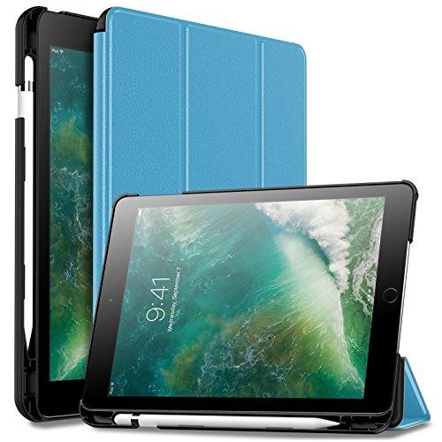 iPad 9.7 ケース Infiland Apple Pencil収納 iPad 9.7 2018モデル 三つ折スタンドカバー キズ防止 軽量 薄型 オートスリープ機能 スマートカバー(モデル番号A1893、A1954対応)