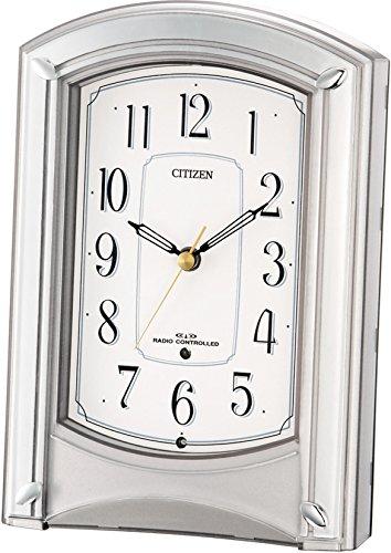 シチズン 電波 置き 時計 アナログ モダンライフ687 銀色 CITIZEN 4RY687-019