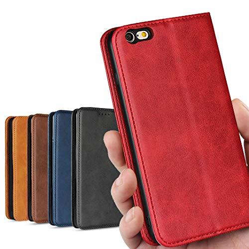 iphone6s plus ケース 手帳型 iphone6 plus ケース iPhone6plus / 6s plu ケース アイフォン6 プラス アイフォン6s プラス ケース iphone6s plus case iphone6s plus カバー_iCoverCase_ 高質合成皮革 内蔵マグネット 携帯カバー カードポケット スタンド機能 落ち着いた色 軽量 レトロ レッド