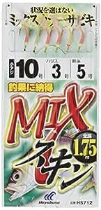 ハヤブサ(Hayabusa) これ一番 MIXスキンサビキ 6本鈎 3-0.6 HS712-3-0.6