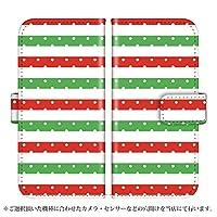 Galaxy S8 SCV36 手帳型 ケース [デザイン:6.イタリアカラードット/マグネットハンドあり] 3色ボーダー ギャラクシー スマホ カバー