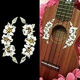 Ukulele - Hibiscus Flowers Rosette Purfling Inlay Stickers Decals [並行輸入品]
