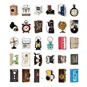 ダイカット ポストカード 型抜き 30枚 セット ( ヴィンテージ スタイル ) おしゃれ かわいい グリーティングカード メッセージカード