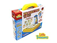 Projector Toys is an educational fun game for kids above 3 years + a learning play set featuring 48 models slide patterns with white writable screen board 8 colorful markers and magnetic letters [並行輸入品]