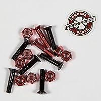 INDEPENDENT インディペンデント 【Phillips Bolt】 Black/Red プラスボルト 7/8インチ (7/8inch) SKATEBOARD スケボー スケート ビス ハードウエア