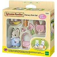 Sylvanian Families Nursery picnic Set / pépinière pique-nique ensemble 1 soie bébé chat inclus/