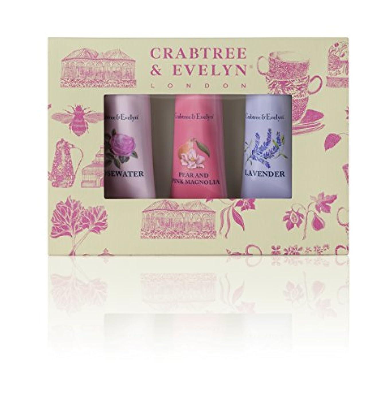 適合する翻訳者脈拍クラブツリー&イヴリン Florals Hand Therapy Set (1x Pear & Pink Magnolia, 1x Rosewater, 1x Lavender) 3x25g/0.9oz並行輸入品