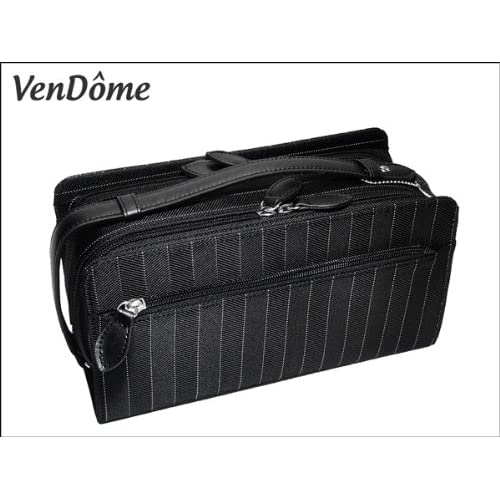 9641d0a30229 (ヴァンドーム) VenDome 本牛革使用 ボーダー セカンド バッグ 2266