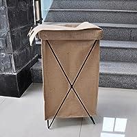 WTL かご?バスケット 折り畳み式収納用バスケットリネンカバー付き衣服防水ホーム (色 : A)