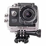 高画質 1080P防水 多機能スポーツカメラ マリンスポーツやウインタースポーツにも最適 バイクや自転車 カートや車に取り付け可能なスポーツカメラ HD動画対応 コンパクトカメラ  DFS-SJ4000BK(ブラック)