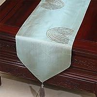 テーブルランナー ホームデコレーション 中国古典的なスタイル おしゃれ 長方形 エレガント 結婚式 祝日 (Color : Green, Size : 33*300cm)