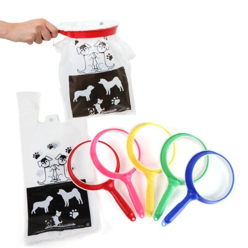 Amazonの犬のフン取り器 エコキャッチャー1個とデザイン袋セット(お試し袋30枚入り)の画像