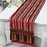 テーブルランナー ホームデコレーション 北欧 おしゃれ 長方形 エレガント モダン シンプル 日常 結婚式 クリスマス (Color : Red, Size : 33*280cm)