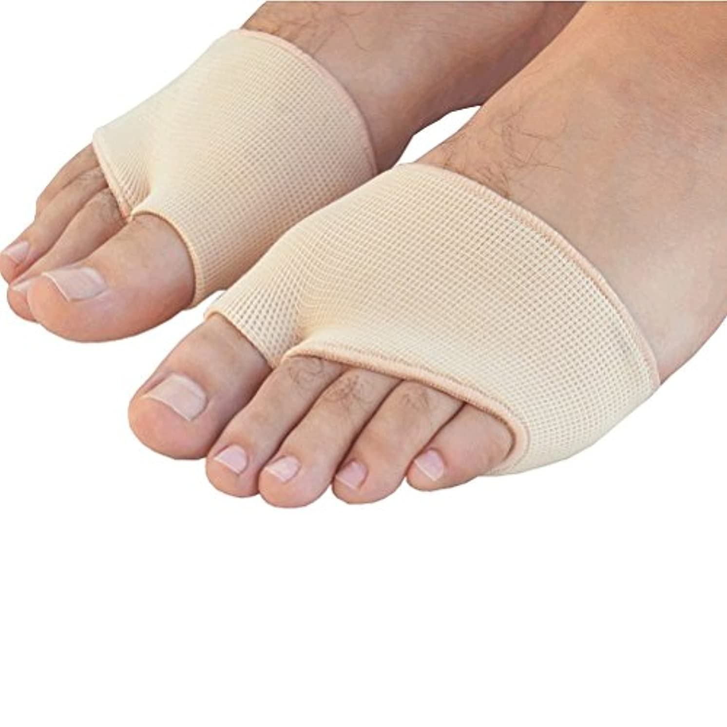 疲れたコールド差別するROSENICE ゲル前足中足骨の痛み救済吸収クッション パッド 足底筋膜炎インソール 衝撃吸収 サイズS(肌の色)