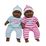(African American) - JC Toys Lots to Cuddle Babies Twin Dolls
