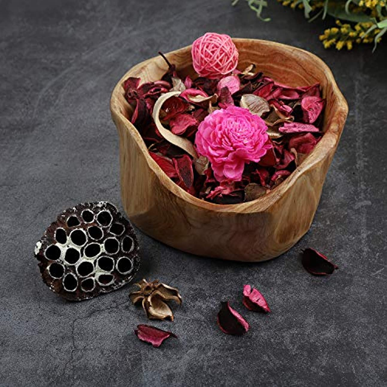 晩餐シティ適応するQingbei Rina ポプリ ピンク 200g バラのポプリ ギフト 手作りの自然素材