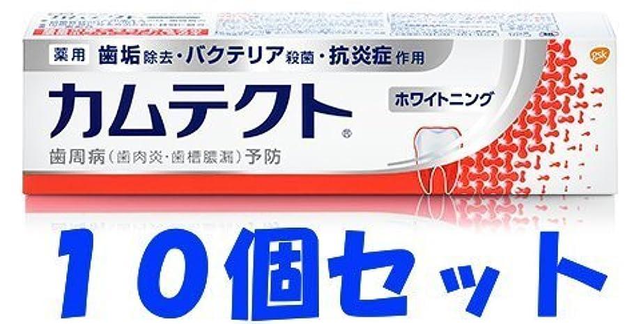 博物館窒素大きい【10個セット】カムテクト ホワイトニング 105g