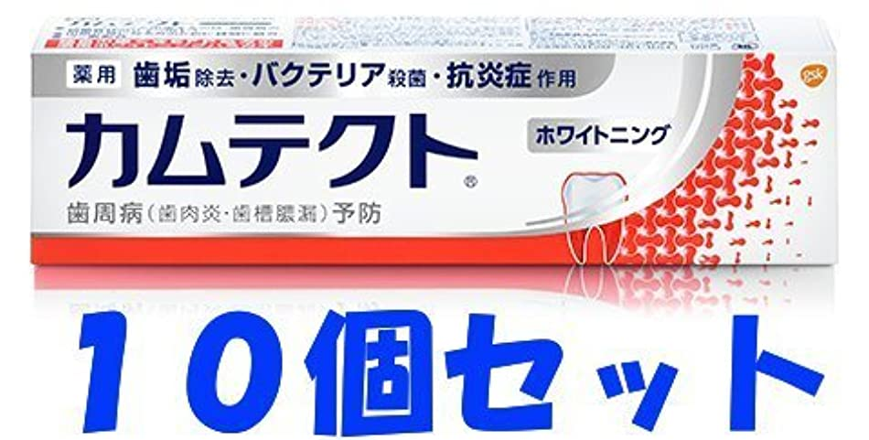 ブル締め切り燃料【10個セット】カムテクト ホワイトニング 105g