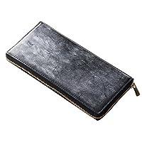 ef7119d2c68e DanZy(ダンズィ) ブリティッシュブライドルレザー ラウンド型長財布 メンズ 財布 クロ 黒