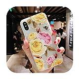 11 Pro高級3DシリコンケースiPhone 6 7 6 s 8プラス5 s SE X XS MAX XR耐衝撃性の花電話ケースiphone 6 7ケースガール-Flower 11-For iPhone 11