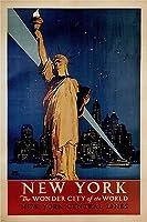 ニューヨークビンテージポスターアメリカ24X36ワンダーシティ 平行輸入