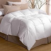 """Premium Down Luxury European White Goose Down Comforter-600 Fill Power-Cotton Shell 340TC-White (King 96""""x108"""") [並行輸入品]"""
