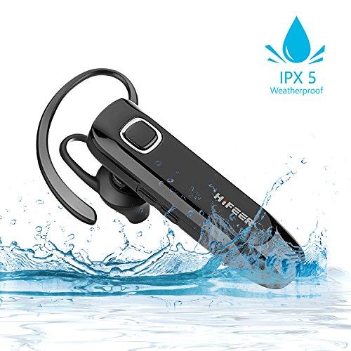 Bluetooth ヘッドセット V4.1 片耳 超大容量 ブルートゥースヘッドセット マイク内蔵 ハンズフリー通話 高音質 超長待機 左右耳通用ブルートゥースイヤホン ワイヤレスイヤホン 防水IPX5【黒い】