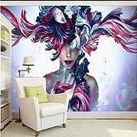 Lixiaoer カスタム壁画カスタム塗装壁紙壁画ソファリビングルームテレビ背景ファッション店ステレオ壁画-250X175Cm
