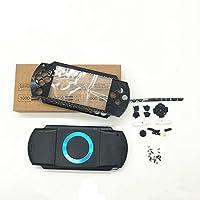 Hzjundasi Replacement Full ハウジングシェルフェイスプレート場合カバー 修理部品 w/ボタン Set for Playstation Portable PSP1000 PSP 1000 Black